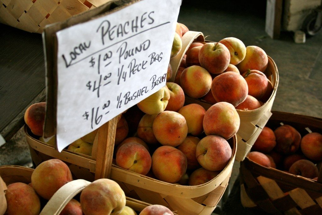 Fresh Spartanburg Peaches