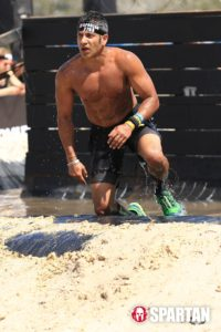 Akash Garg participating in the Spartan Race