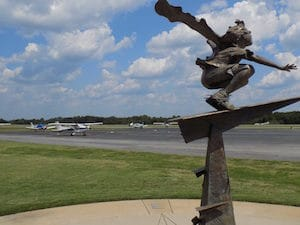 Sculpture at Spartanburg Memorial Aiport