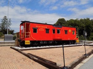 red train caboose turned museum