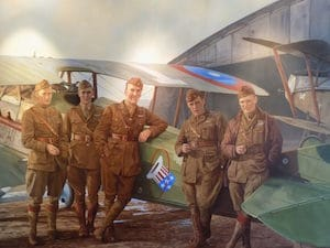 WWI flying ace painting
