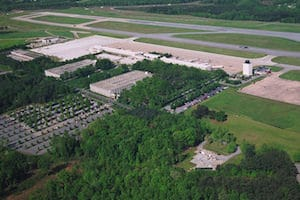 aerial shot of GSP airport