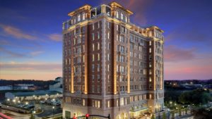 exterior shot of the sc hotel spartanburg