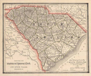 archived south carolina state map from the spartanburg public library