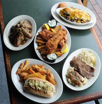 meat and three meal from delaneys