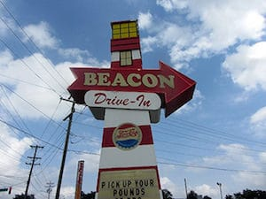 beacon drive-in sign