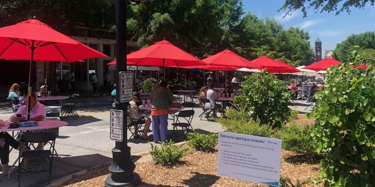 Outdoor Dining Across Spartanburg County